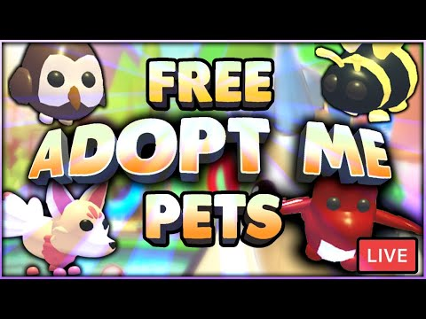 Adopt Me Live Giveaway Accessory Pets Roblox Youtube