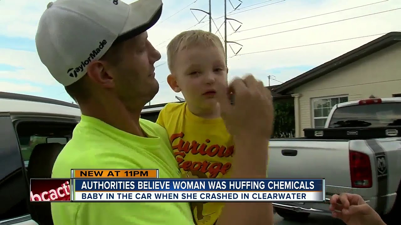 Clearwater mom charged with 'huffing' chemicals while driving 1-year-old