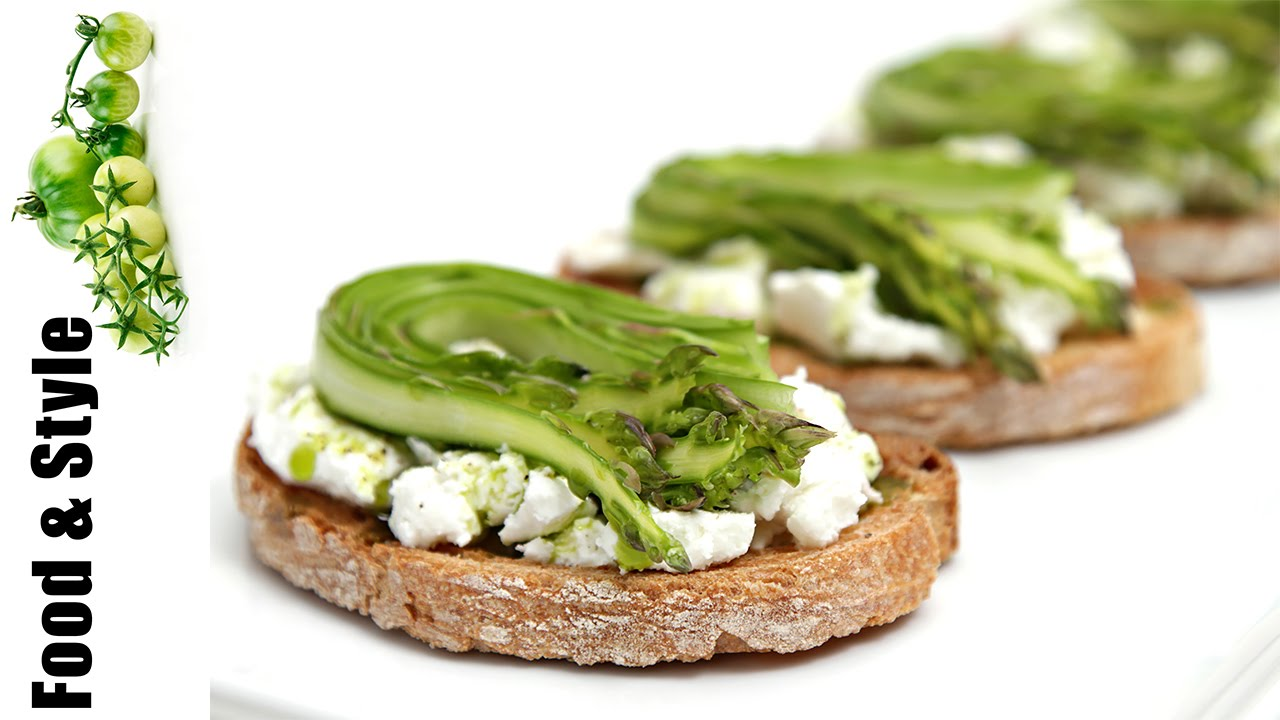 Shaved Asparagus & Goat Cheese Bruschetta with Chive-Infused Oil ...