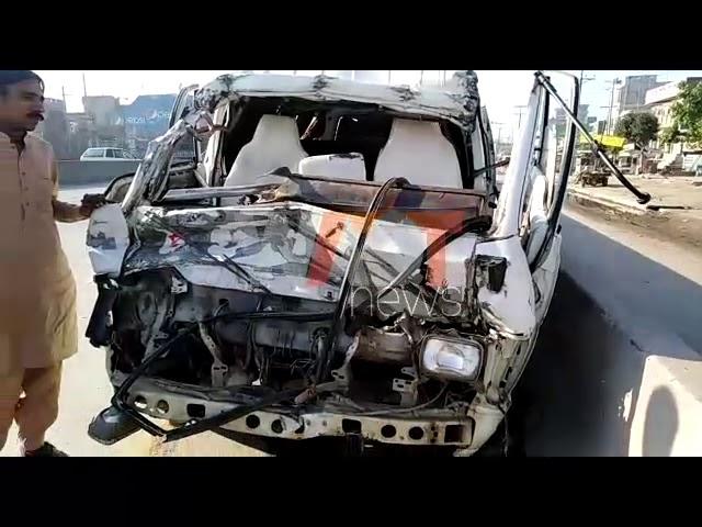کامونکے۔ سبزی منڈی کے قریب ٹیوٹا اور ڈمپر میں تصادم