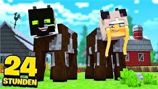 24 STUNDEN als KÜHE LEBEN?! - Minecraft [Deutsch/HD]
