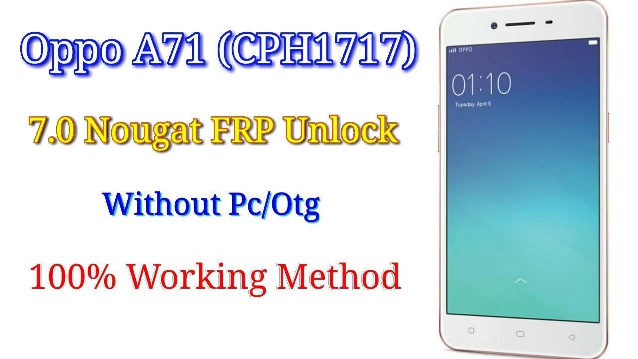Oppo A71 7 0 Frp unlock without Pc/Otg || Verified Tricks
