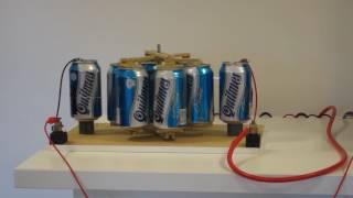 Beer Can Electrostatic Motor – Motor Electrostático con Latas de Cerveza.