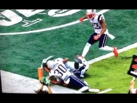Austin Seferian-Jenkins Jets Touchdown in Slow Motion vs Patriots - overruled by Ref NFL Football