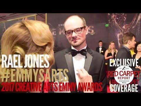 Rael Jones, Composer, Sherlock, interviewed at the 2017 Creative Arts Emmys Red Carpet #EmmysArts
