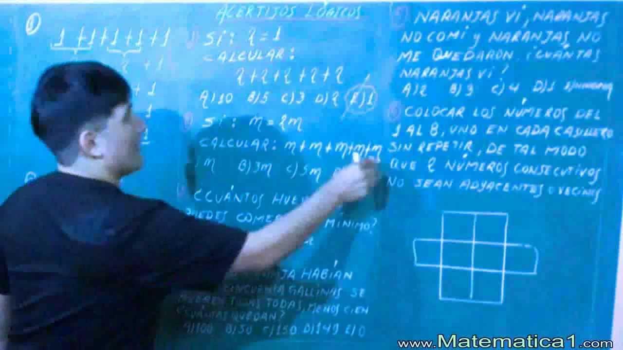 Juegos Mentales Logicos Capciosos Matematicos Youtube