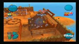 Worms 4 Mayhem PS2 Gameplay