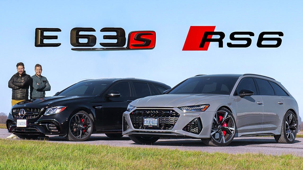 2021 Audi RS6 vs Mercedes-AMG E63S // DRAG RACE, ROLL RACE & Track Review