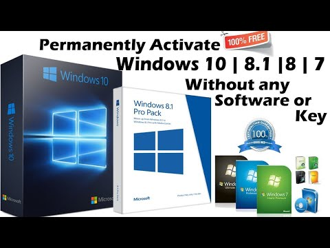 Permanently Activate Windows 10/8/8.1/7 All Version without Software or key | 100% Legal