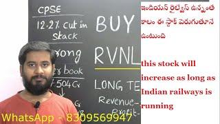 buy recommendation of stock RVNL స్టాక్ Buy చేసుకోండి శ్రీరామనవమి special