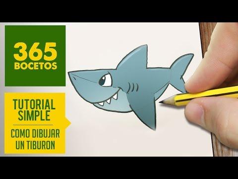 Como Dibujar Un Tiburon Facil Paso A Paso A Lapiz Aprender