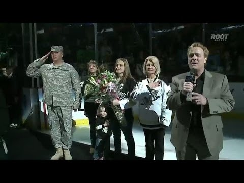 Penguins welcome home Sergeant Martin