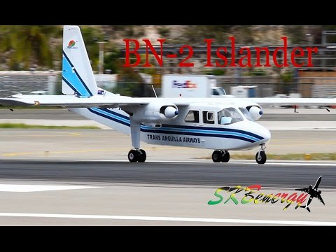 Trans Anguilla Airways - BN-2 Islander triple departure @ St
