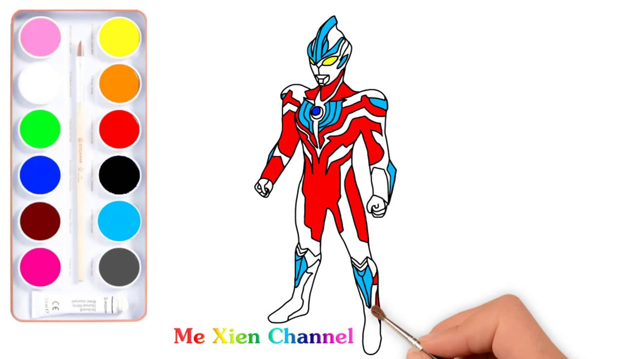 Ultraman Ginga And Draw Ultraman Coloring Pages Youtube
