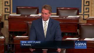 Sen. Jeff Flake condemns President Trump's attacks on media -- FULL SPEECH (C-SPAN)