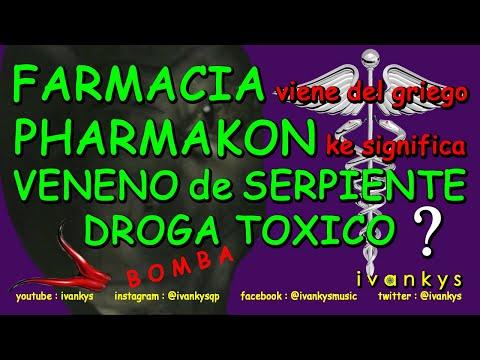 palabra FARMACIA viene del griego PHARMAKON ke significa VENENO de SERPIENTE DROGA TOXICO, x ivankys