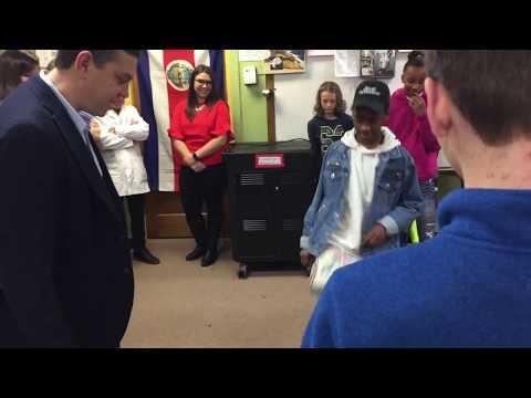 Manny Lagos Visits Upper Mississippi Academy Dec. 2017