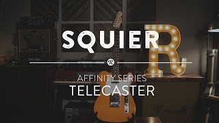 Squier Affinity Series Telecaster Electric Guitar   Reverb Demo Video