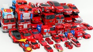 Red Color Transformers HelloCarbot Tobot Miniforce 40 Vehicle Transformation Robot Car Toys