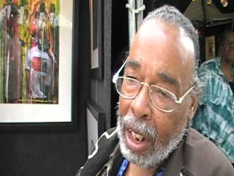 Visual Artist Frank Frazier at the Chicago's African Festival of the Arts 2010
