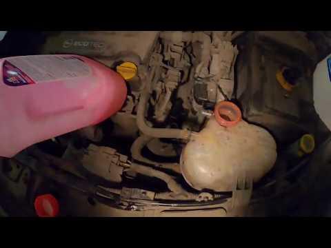 Замена антифриза Opel Corsa D (1.4)