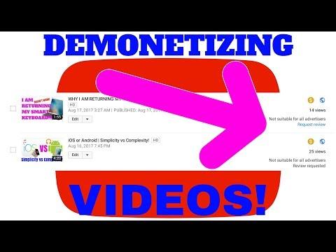 YouTube is DEMONETIZING my VIDEOS!