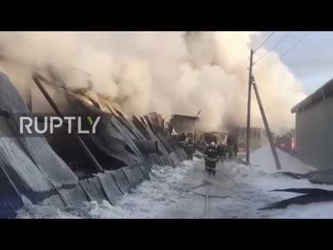 Russia: Ten dead in Novosibirsk shoe factory blaze