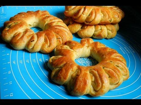 SCALLIONS WHEEL BREAD   No-Milk Savory Bread Recipe