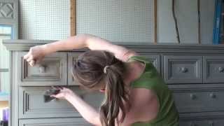 Pretty Distressed Annie Sloan Chalk Paint® Tutorial #5 - Dark Wax
