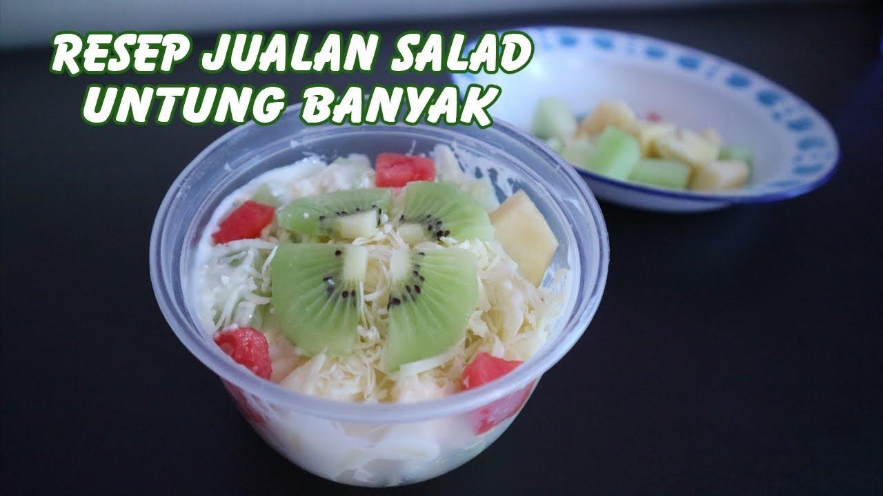 Resep Jualan Salad Buah 2 Bahan Saja Untung Banyak Youtube