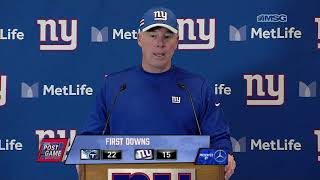 Pat Shurmur: We Didn't Do Anything Well Enough to Expect to Win | New York Giants Post Game