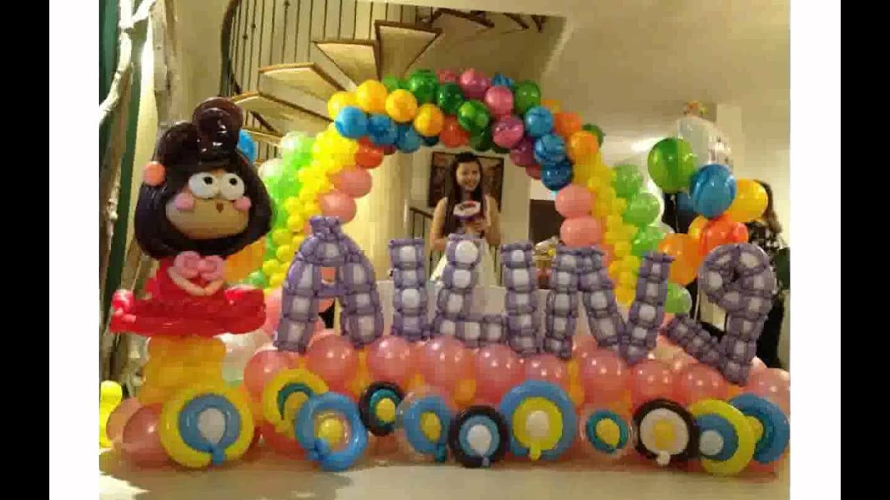 Birthday Balloon Decorations YouTube