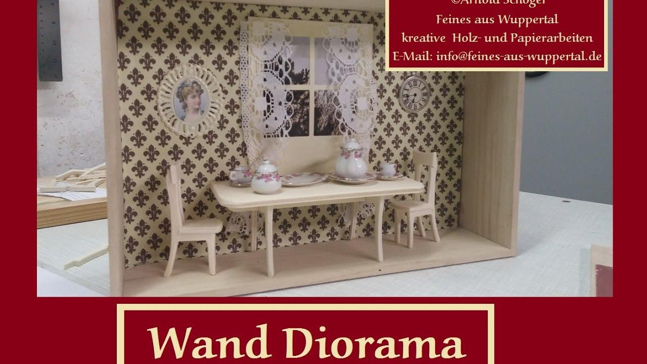 Wand Diorama  DIY Esszimmer Puppenmöbel