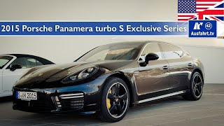 2015 porsche panamera turbo s exclusive series test test drive and in depth car review english