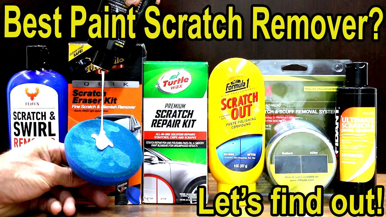 Best Car Paint Scratch Remover? Let's find out! Turtle Wax, Meguiar's, 3M, Nu Finish, Carfidant