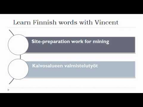 Learn Finnish = Vocabulary = Construction work