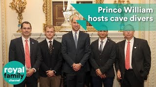 Prince William hosts cave divers involved in Thai rescue ops
