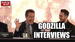 Video Godzilla Interviews - Bryan Cranston, Elizabeth Olsen, Aaron Taylor-Johnson, Gareth Edwards download MP3, 3GP, MP4, WEBM, AVI, FLV Desember 2017