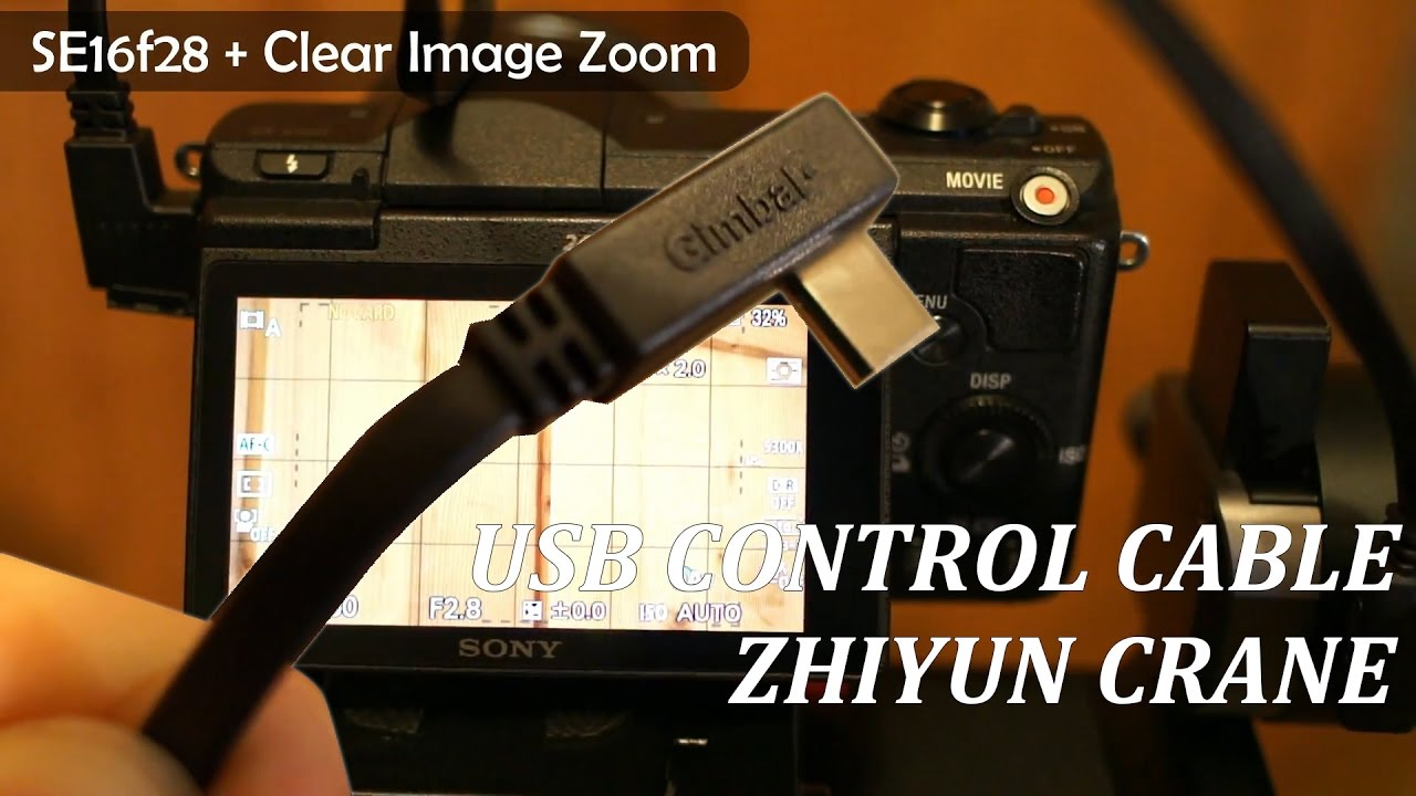 usb control cable for zhiyun crane and sony cameras review [ 1280 x 720 Pixel ]