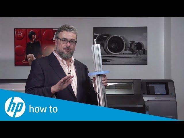 Jak ładować media do drukarki HP Latex 560 (część 1/2)
