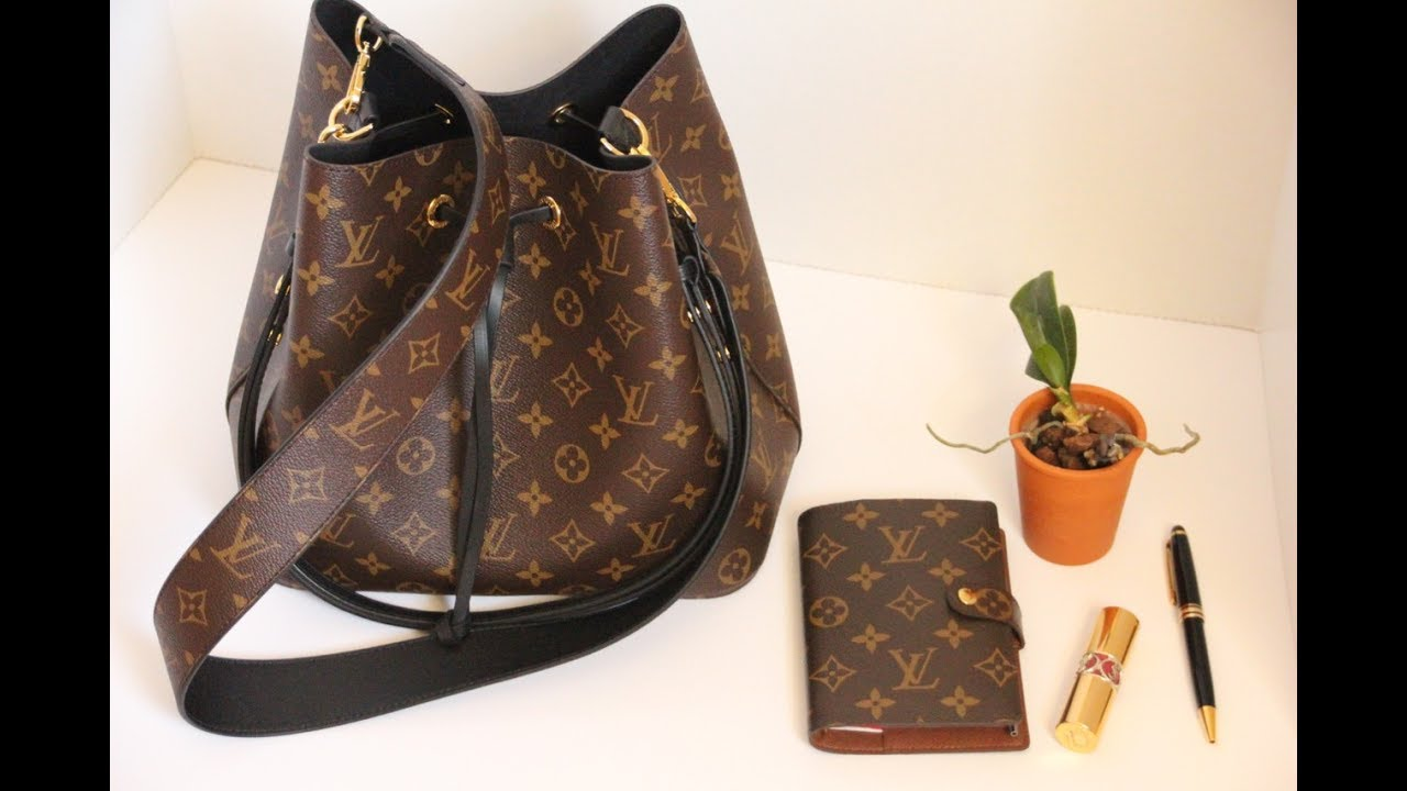 Chatty unboxing of the Louis Vuitton Neo Noe Bag and Bandoulière Monogram  Strap! b423f6f2dd8f6