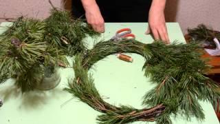 Handmade Christmas Wreath ❄ Новогодний венок из сосновых веток  ❄