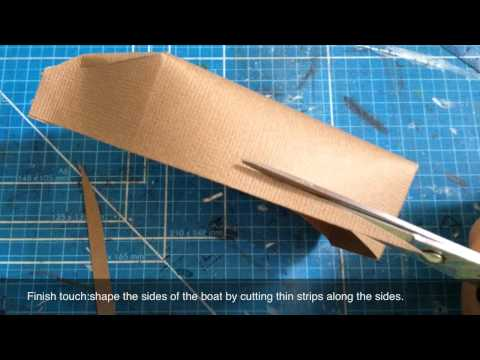 Paper Sailboat video tutorial for American Crafts