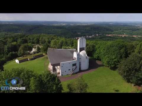 Vidéo aérienne de la Chapelle Notre Dame Du Haut de Ronchamp