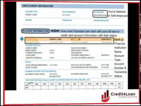 How to read (understand) your CIBIL Credit Information Report