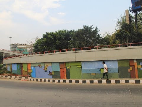 Post graffiti  New Delhi,AIIMS flyover,India 2016__ by MAHANT: