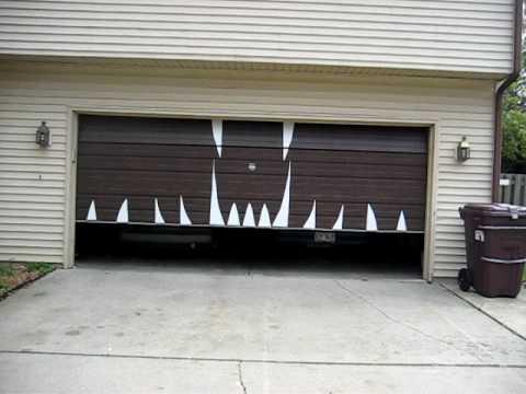 Delightful Halloween Garage Door