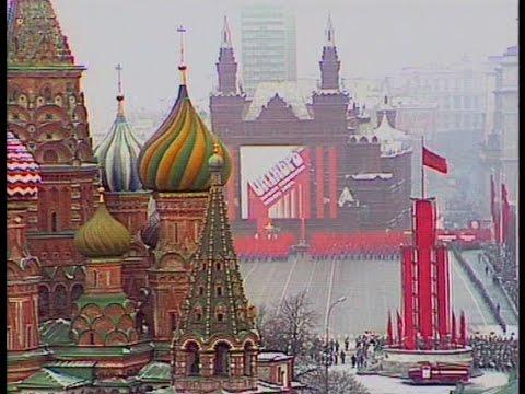 HD Soviet October Revolution Parade, 1988 Part II Парад 7 Ноября