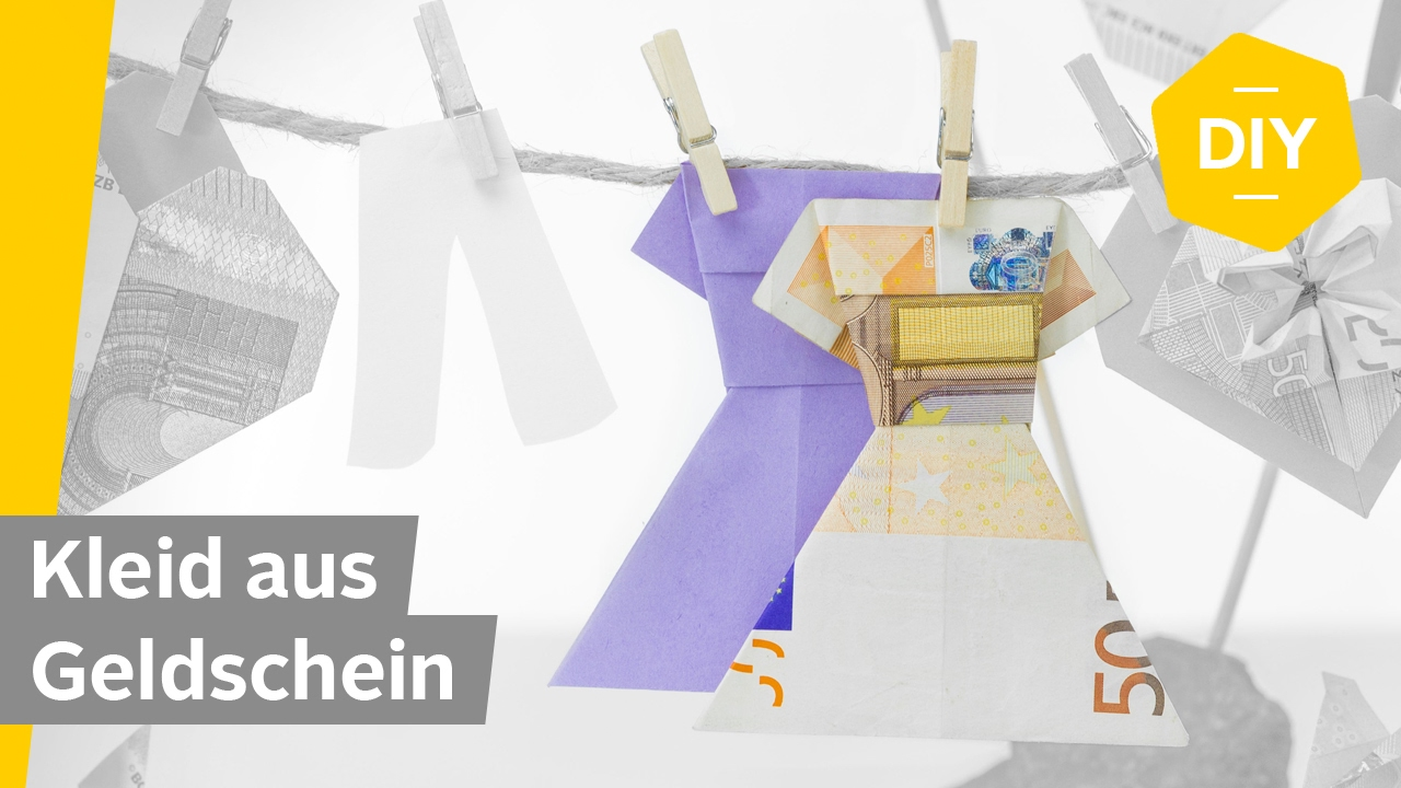 geldscheine falten kleid f r kreative geldgeschenke roombeez powered by otto youtube. Black Bedroom Furniture Sets. Home Design Ideas