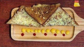 Garlic Toast | Garlic Bread Recipe | गार्लिक टोस्ट | Cheese Garlic Toast | Food Tak